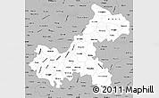 Gray Simple Map of Chongqing