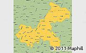 Savanna Style Simple Map of Chongqing