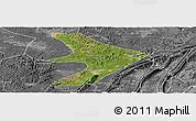 Satellite Panoramic Map of Tongliang, desaturated