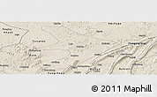 Shaded Relief Panoramic Map of Tongliang