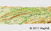 Physical Panoramic Map of Wan Xian