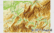 Physical 3D Map of Wulong