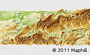 Physical Panoramic Map of Wulong
