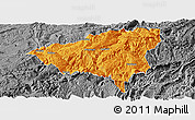 Political Panoramic Map of Wulong, desaturated