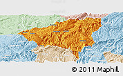 Political Panoramic Map of Wulong, lighten