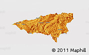 Political Panoramic Map of Wulong, single color outside