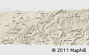 Shaded Relief Panoramic Map of Wulong