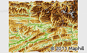 Physical 3D Map of Wushan