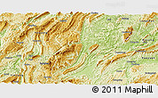 Physical Panoramic Map of Xiushan