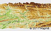 Physical Panoramic Map of Yunyang