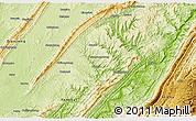 Physical 3D Map of Zhong Xian