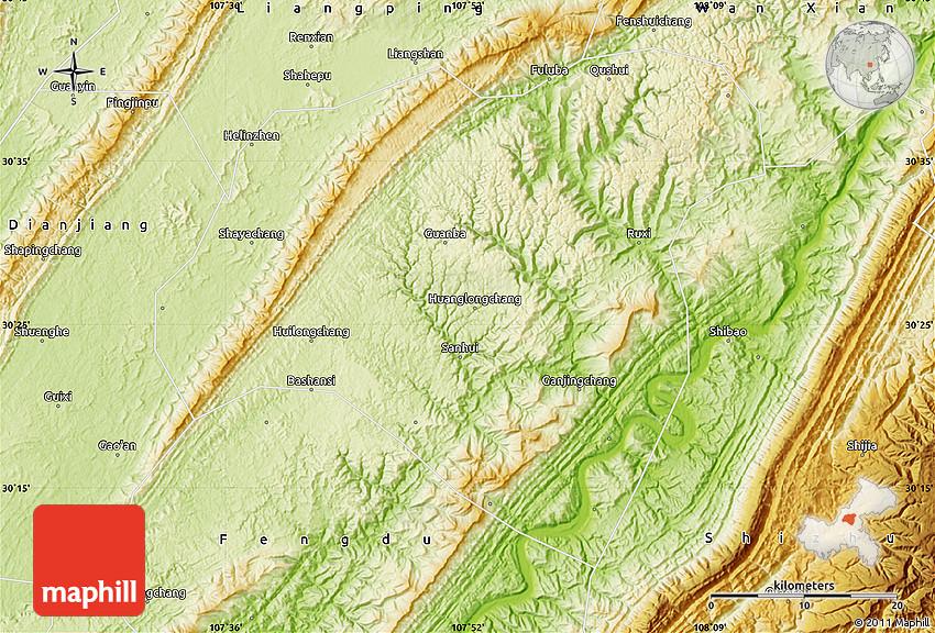 Map Of Xi River - Maps |Xian East Asia Map