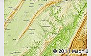 Physical Map of Zhong Xian