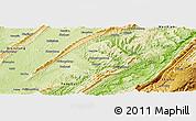 Physical Panoramic Map of Zhong Xian