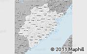 Gray 3D Map of Fujian