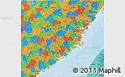 Political 3D Map of Fujian