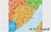 Political Shades 3D Map of Fujian