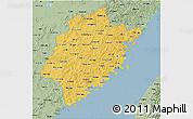 Savanna Style 3D Map of Fujian