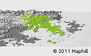 Physical Panoramic Map of Fuqing, desaturated