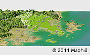 Physical Panoramic Map of Fuqing, satellite outside