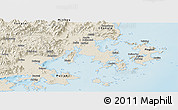 Shaded Relief Panoramic Map of Fuqing