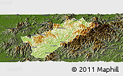 Physical Panoramic Map of Guangze, darken
