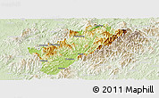 Physical Panoramic Map of Guangze, lighten