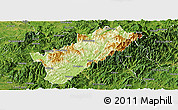 Physical Panoramic Map of Guangze, satellite outside