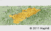 Savanna Style Panoramic Map of Guangze