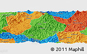 Political Panoramic Map of Jiangle