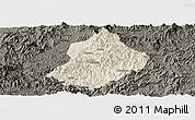 Shaded Relief Panoramic Map of Jiangle, darken