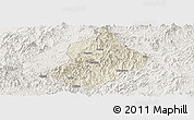 Shaded Relief Panoramic Map of Jiangle, lighten
