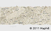 Shaded Relief Panoramic Map of Jiangle