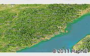 Satellite Panoramic Map of Fujian