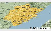 Savanna Style Panoramic Map of Fujian