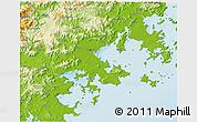 Physical 3D Map of Putian