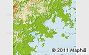 Physical Map of Putian
