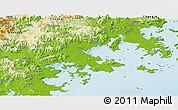 Physical Panoramic Map of Putian
