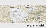 Classic Style Panoramic Map of Shanghang