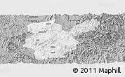 Gray Panoramic Map of Shanghang