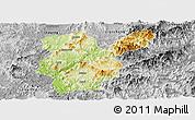 Physical Panoramic Map of Shanghang, desaturated