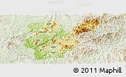 Physical Panoramic Map of Shanghang, lighten