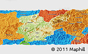 Physical Panoramic Map of Shanghang, political outside