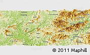 Physical Panoramic Map of Shanghang