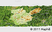 Physical Panoramic Map of Shanghang, satellite outside