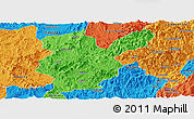 Political Panoramic Map of Shanghang