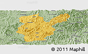 Savanna Style Panoramic Map of Shanghang