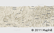 Shaded Relief Panoramic Map of Shanghang