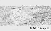 Silver Style Panoramic Map of Shanghang