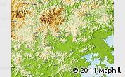 Physical Map of Xianyou